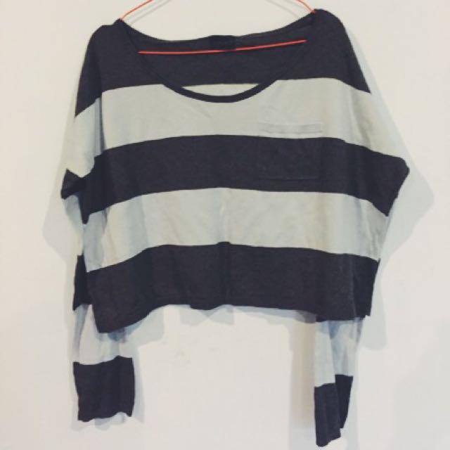 Long Sleeve Stripes Top Shop