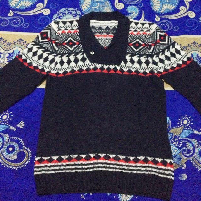 Navy Abstrak Sweater