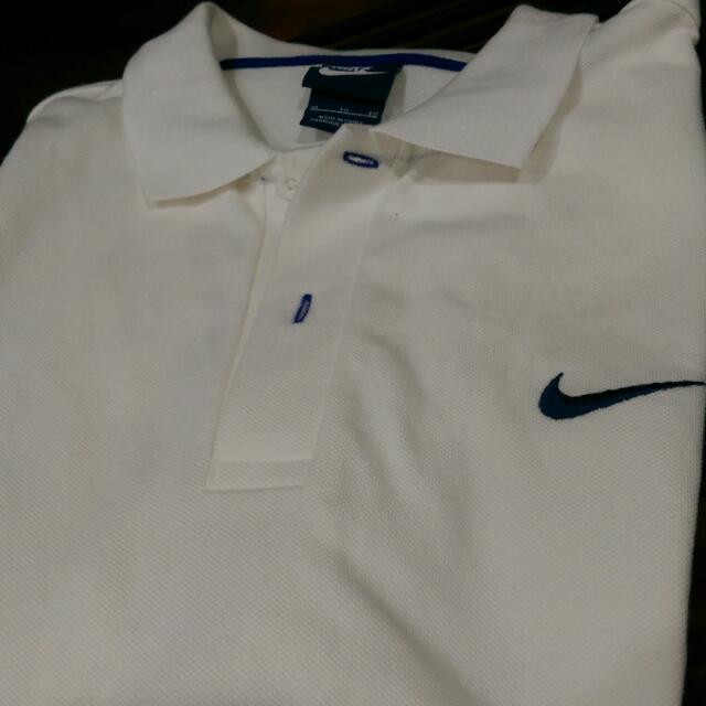 Nike Polo衫 Logo刺繡 白 短袖