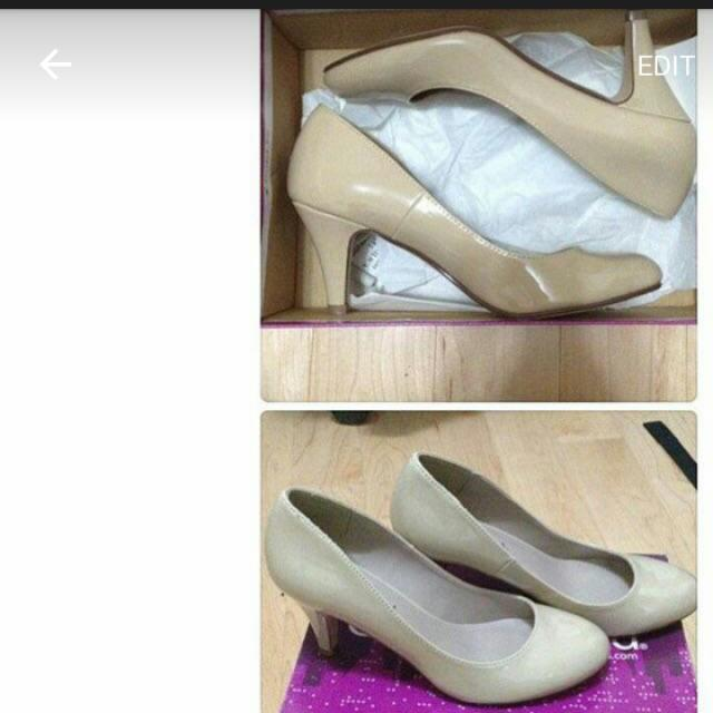 nude 2 inch heels
