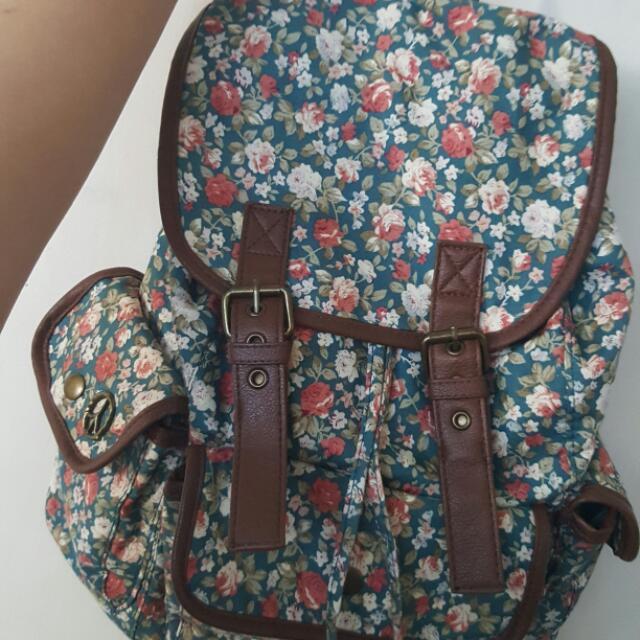 Olsenboye Floral Backpack