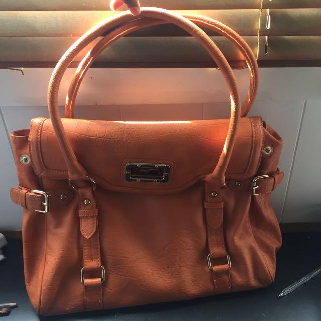 Orange Faux Leather ALDO Handbag
