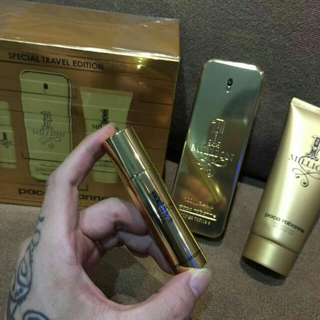 Paco rabanne 1 million special travel edition gift set 100ml edt +.
