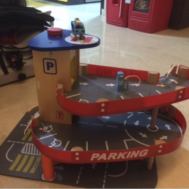 Parking Garage Elc Big City Wooden Garage Toys Games Bricks