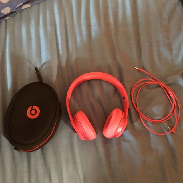 Pink Beats Solo 2 Not Wireless