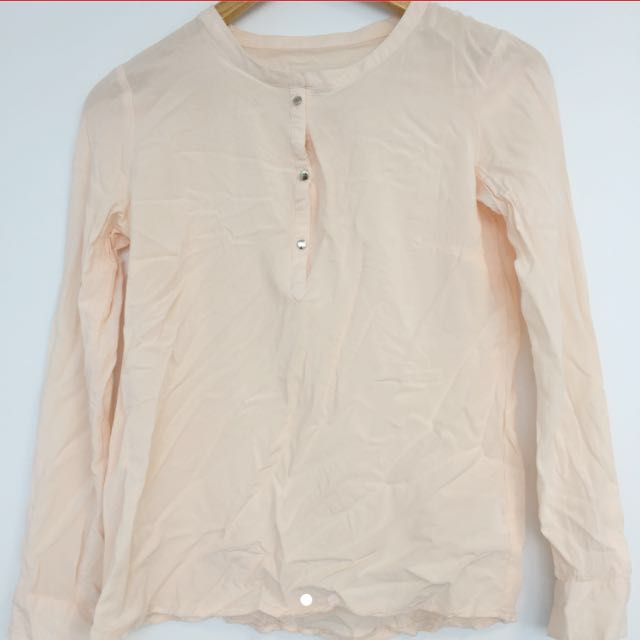 Pink Blouse Corporate Silver Cotton