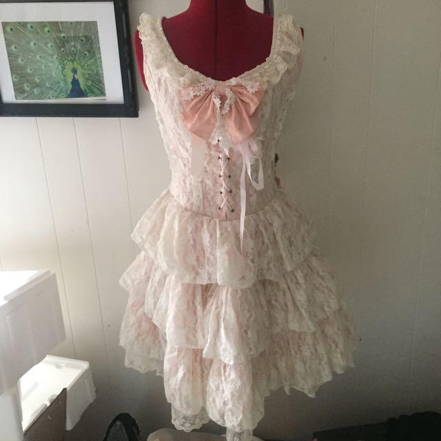 Pink Lolita Dress/ Doll Costume