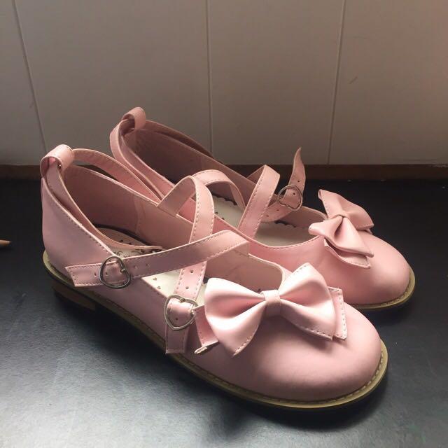 Pink Lolita Flats