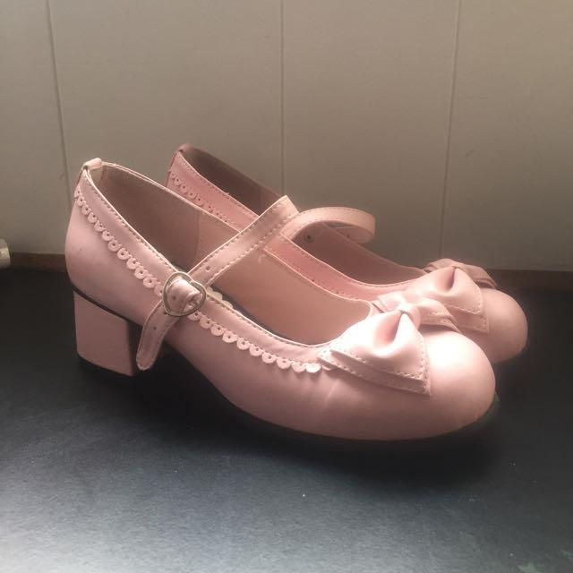 Pink Lolita Heels