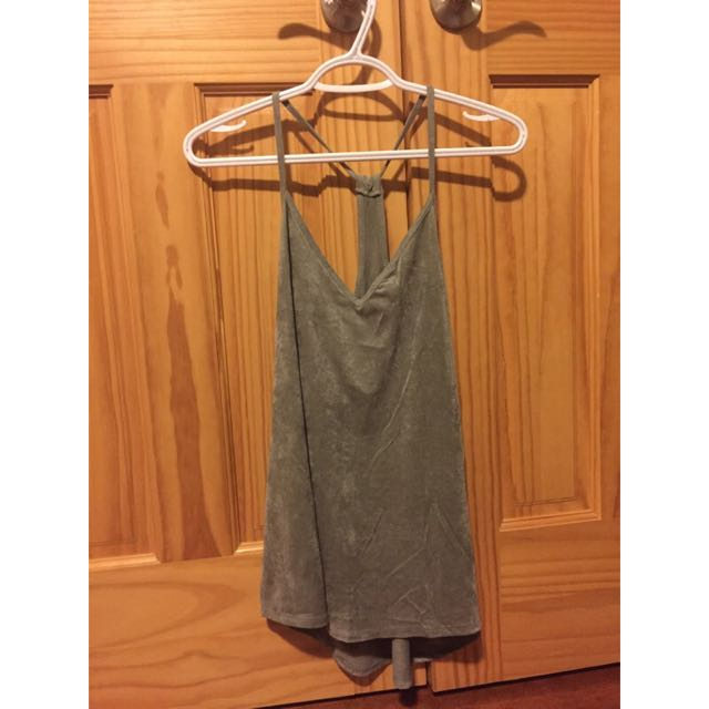Really Cute Green Suede Tank