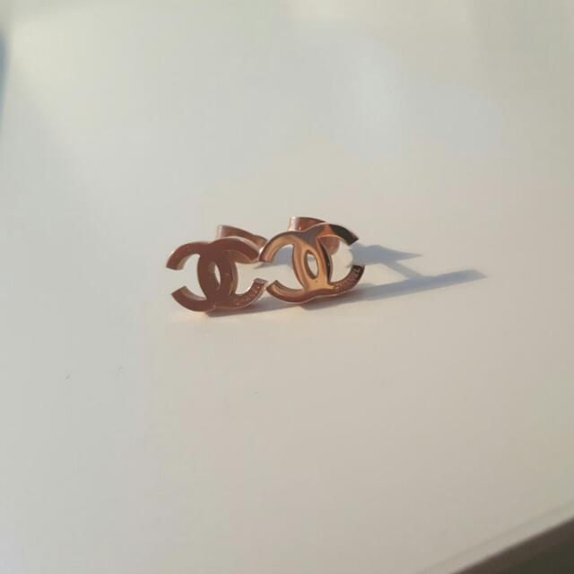 PRICE REDUCED! Rosegold  Chanel Earrings