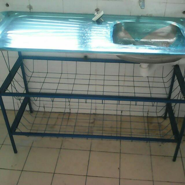 Sinki Dan Rak Kitchen Liances On