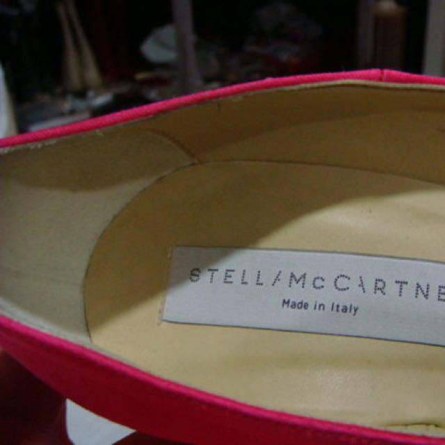 Stella McCartney 35.5號 桃紅緞面 優雅高跟鞋