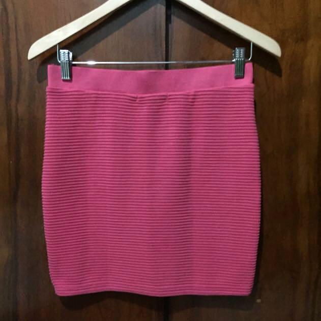 Temt Shocking Pink Skirt