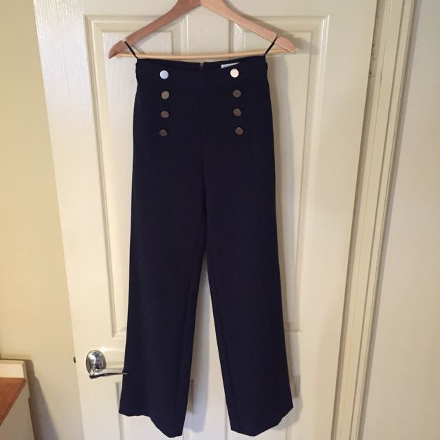 Witchery Navy Boat Pant