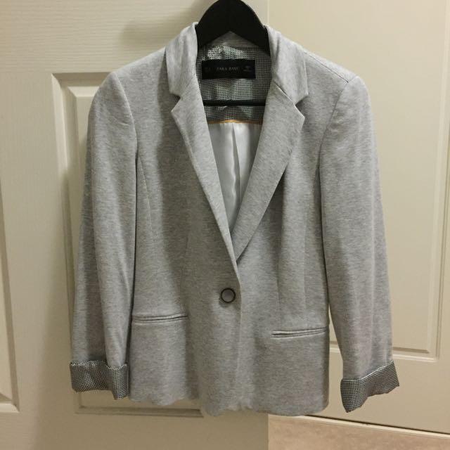 Zara Grey Blazer (Size XS)
