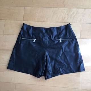 Zara Pleather Shorts