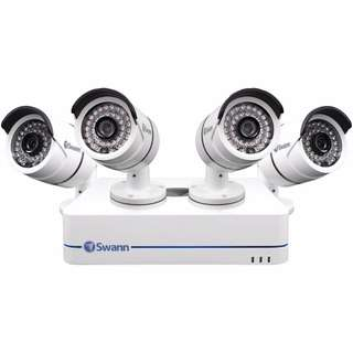 Swann SWNVK-870854-US 8-Channel 720p Network Video Recorder and 4 x Bullet Cameras (White)