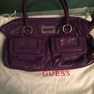 Purple Guess Bag