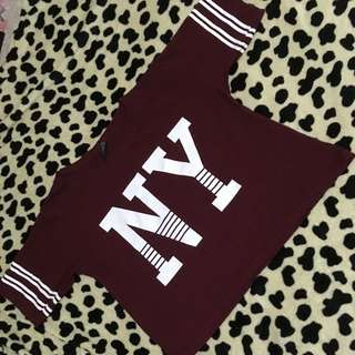 Cropped Top in Maroon