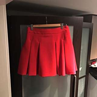 Red Ms. Selfridge Skirt