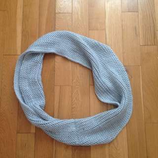 Grey Winter Infinity Scarf