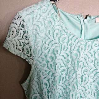 Mint Boteh Lace Dress