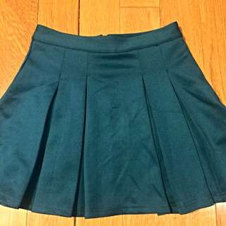 Emerald Green Pleated Skirt