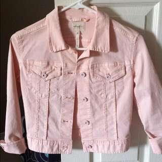 Wilfred Pale Pink Jean Jacket Sz 0/xs