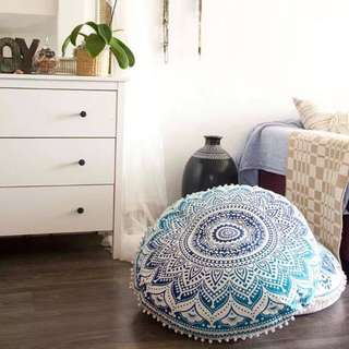Mandala round Floor Cushion.
