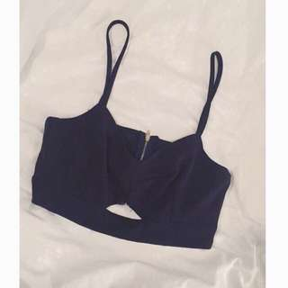 Navy blue crop top/bralette