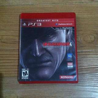 Bd Game Metal Gear Solud 4 PS3
