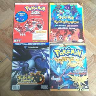 Assorted Pokemon Guidebooks