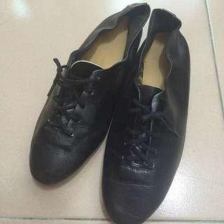 真皮✨牛皮🎉黑色芭蕾舞鞋牛津平底鞋39號40號25號