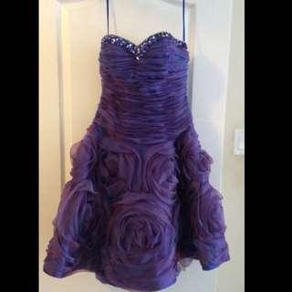 PURPLE STRAPLESS DRESS (Size 6)