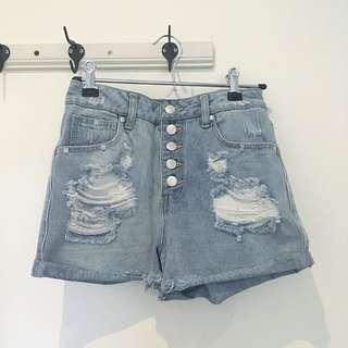Dotti Distressed Denim Shorts