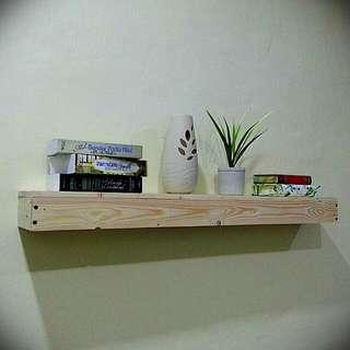 Modern Hanging Shelf made from pine wood