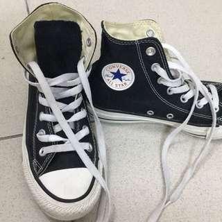 Converse高筒 基本款 黑色