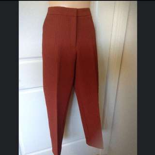 ASOS ORANGE CIGARETTE TROUSERS