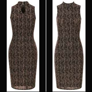 Shimmer Bodycon Midi Dress