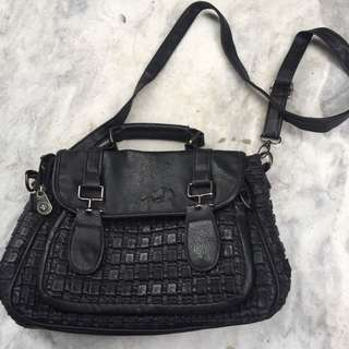 Black Satchel Bag From Crossings