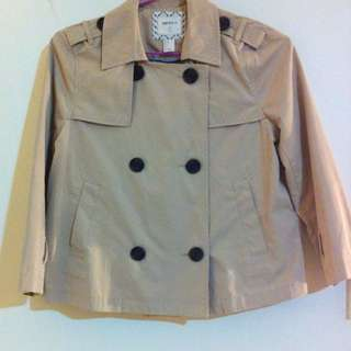 Forever 21 crop trench coat/jacket