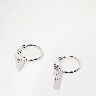 Asos Triangle And Etched Bar War Cuffs