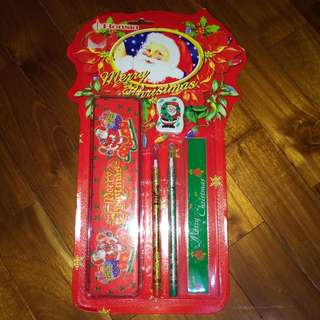 聖誕節文具組