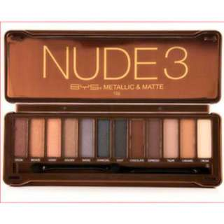BYS Nude 3 Eyeshadow Palette 12 Colours