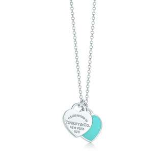 Tiffany&co Mini Double Heat Tag Pendant Silver With Enamel Finish