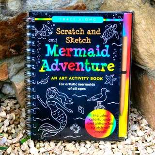 Mermaid Adventure Scratch and Sketch Art Activity Book of All Ages