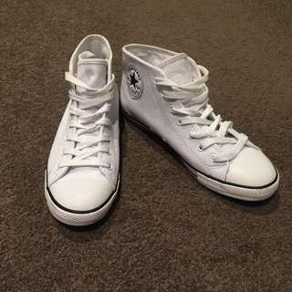 *PENDING* New Leather High Top Chuck Taylor's