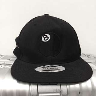 正品Stussy 8號撞球刺繡棒球帽