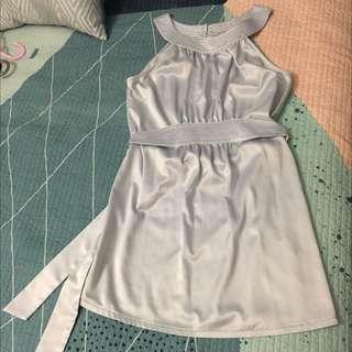 Cooper Street Dress Baby Blue/ Silver